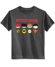 Dc Comics Justice League Cotton Graphic-Print T-Shirt, Toddler & Little Boys (2T-7) - Gray 6