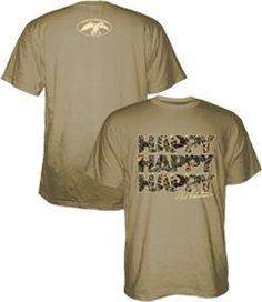 PIVOTAL PARTNERS LLP Duck Commander Happy Happy Happy S/S Tshirt Sand Large, EA