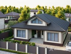 Одноэтажный коттедж ТИП H | Строительная компания «Загород» Modern House Floor Plans, New House Plans, Small House Plans, Dream Home Design, Home Design Plans, House Design, French Country House Plans, Modern Farmhouse Plans, Small Dream Homes