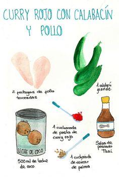 Curry Rojo con calabacín y Pollo | Flickr: Intercambio de fotos