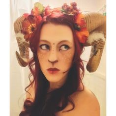 DIY: SATYR COSTUME   This Halloween I wanted to make a Pan's-Labyrinth-inspired pan/satyr/faun costume.     I went to Goodwill and p...