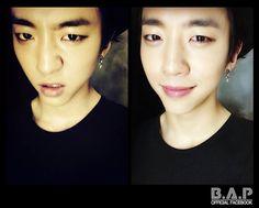 Thug Face and Smile? I Love Yongguk <3