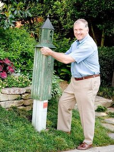 Hidden in plain sight. Hide the ugly utility box. Since you're stuck with it, here's a smart way to disguise that ugly utility box. A simple slipcover box made of bead board and topped with a birdhouse covers up the eyesore and draws nature into your yard. ~ Dang! makes a great looking garden/yard attraction with or w/o the utility box.
