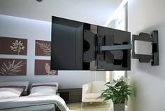 TV wall mount - swivel a solution for living room TV viewing angles Weisser TV wall mounts