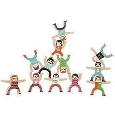 Vilac acrobaten stapelspel from www.kidsdinge.com  #kinderkamer #Kidsroom #Kinderkameraccessoires