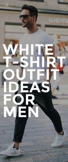 Awesome White Shirt Outfit Ideas For Men #mensfashion #fashion #style #fallfashion #streetstyle #outfitgrid