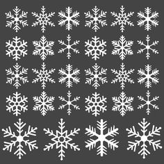 28 CHRISTMAS SNOWFLAKES VINYL WINDOW DECAL/STICKER WALL ART | MULTIPLE COLOURS