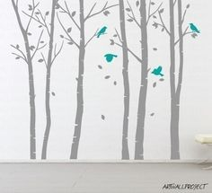 Wall Vinyl Decal Sticker Tree decal forest room por artwallproject