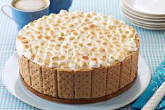 The ice cream inside the cake stays frozen while the s'mores topping toasts golden brown. Don't ask how—just say wow.