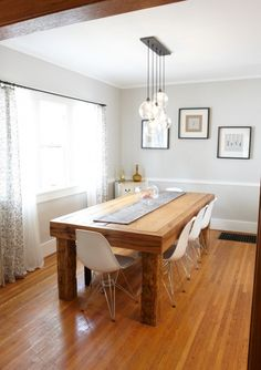I'd love to have a casual farm table that could fit a bunch of friends