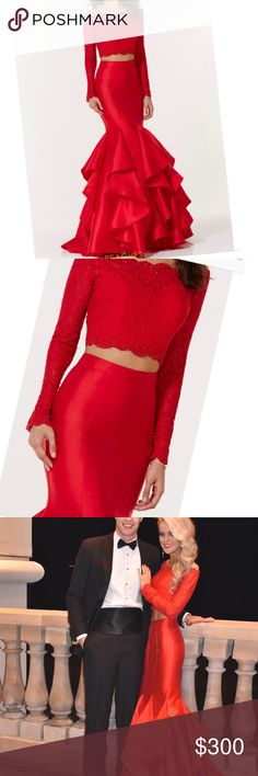 Spotted while shopping on Poshmark: PROM DRESS -Red 2-piece Size 0! #poshmark #fashion #shopping #style #Alyce Paris #Dresses & Skirts