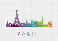 BOGO Cross Stitch Pattern Paris France by ZGCROSSSTITCHPATTERN