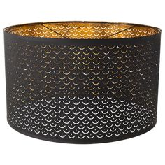NYMÖ Lamp shade, black, brass color, Use the shade to spice up a lamp base or cord set at home, or combine it with one of our new ones. The light shines through the perforated shade and creates a decorative pattern of light in the room. Ikea Lamp Shade, Hanging Lamp Shade, Best Desk Lamp, Floor Lamp Shades, Large Lamp Shades, Clear Light Bulbs, Large Lamps, Tall Lamps, Room Lamp