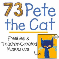 73 Cool Pete the Cat Freebies and Teaching Resources Pete the Cat is the go-to book for many kindergarten and elementary classrooms. Here are Pete the Cat freebies, videos and books listed all in one place so you won't have to go digging to look for them. Teacher Created Resources, Teaching Resources, Teaching Ideas, Primary Teaching, Teaching Time, Creative Teaching, Kindergarten Activities, Book Activities, Sequencing Activities