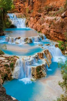Waterfall, Havasou, Arizona, USA