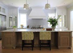 Andrew Howard interior Design - kitchens - Grosvenor Single Pendant, beach kitchen, beach cottage kitchen, mirrored cabinets, mirrored doors...