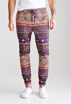 Tribal Print Drawstring Joggers | 21 MEN - 2000117730