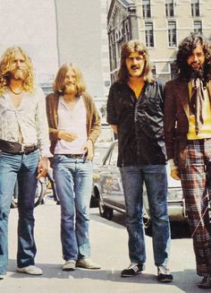 Led Zeppelin photographed in Italy, 1971.