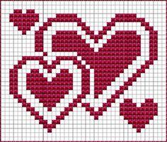 Nu het straks Valentijn is, zet ik af en toe wat hartjes-patronen op dit blog. Maar hartjes zijn van alle tijden - dus het komt het hele jaa...