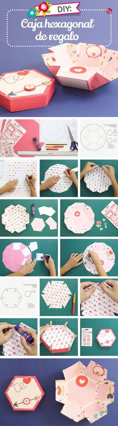 Hexagonal paper box step by step | DIY Fun Tips