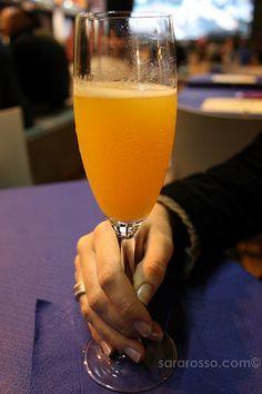 Bellini Champagne Cocktail
