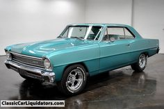 66 Chevy Nova love the color. Chevy Nova, My Dream Car, Dream Cars, Vintage Cars, Antique Cars, Chevy Muscle Cars, Drag Racing, Auto Racing, American Muscle Cars