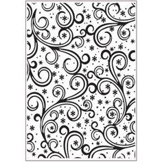 Sue Wilson Emboss Folder Small: Frosty Swirls (EF-047)