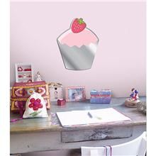 Cupcake Mirror Peel and Stick Wall Applique