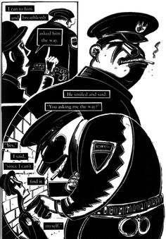 """From the comic """"Give it up!"""" with short stories by Franz Kafka illustrated by Peter Kuper"""