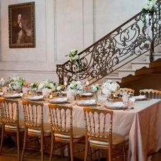 This classic look is just what I am looking for with a touch of modern.   Classic wedding reception