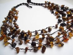 Genuine Baltic Amber Necklace. Jewelry  for  Womens Ladies Girls.
