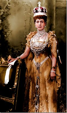 Queen Alexandra, Queen Elizabeth's great grandmother, loved jewelry and she was only ever seen covered in pearls and diamonds.