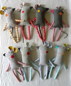 We are the grey Mish´s, highly qualified experts in all those fields concerning various mouse matters - as you might have imagined. And we bet that loud grey Mish Fabric Toys, Fabric Crafts, Sewing Toys, Sewing Crafts, Doll Style, Diy And Crafts, Crafts For Kids, Mouse Crafts, Felt Mouse
