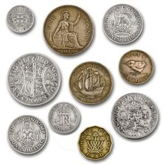 British coins of World War II Rare Coins Worth Money, Valuable Coins, My Childhood Memories, Great Memories, Old British Coins, Nostalgic Images, Coin Worth, Coin Values, Old Money