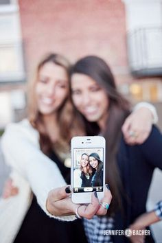 Taking pictures with your bestie!!