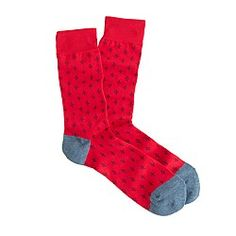 Lightweight diamond foulard socks  $14.50