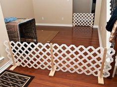 DIY Lattice Pet Gate - petdiys.com