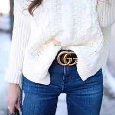 Gucci 'Marmont' belt  |  pinterest: @Blancazh