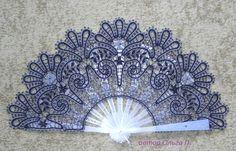Lace bobin lace by MadamKruje on Etsy Lace Weave, Romanian Lace, Bobbin Lacemaking, Types Of Lace, Vintage Fans, Crochet Motifs, Needle Lace, Lace Making, Lace Patterns