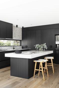 Black Kitchens, Home Kitchens, Bathroom Interior, Kitchen Interior, Modern Kitchen Design, Home Renovation, Architecture, Decoration, Kitchen Dining