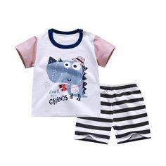 600f33e66bc Casual Baby Sleeve Suit Summer Clothing Pure Cotton Baby Shorts Clothes  Infant Boys And Girls Outfits