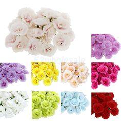 Cheap Silk Flowers In Bulk 100x Roses Artificial Silk Flower Heads