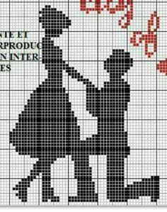 Hand Embroidery Art, Cross Stitch Embroidery, Embroidery Patterns, Wedding Cross Stitch Patterns, Cross Stitch Designs, Cross Stitch Silhouette, Unicorn Cross Stitch Pattern, Free Cross Stitch Charts, Small Cross Stitch