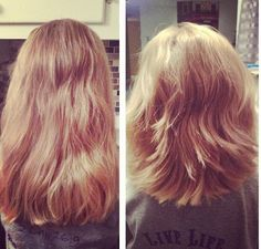 I cut a little girls hair and layered it. Before and after pic