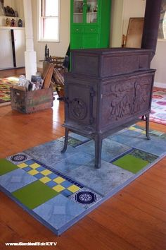 Homemade Wood Stove Floor Protector