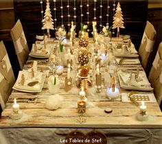 Christmas table decoration | Decoration Eve table | Tables Decoration Day