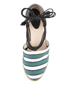 LINEAR THINKING: bring on the beach with Chloe's cheerful striped espadrilles! These are cute!