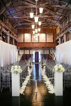 Barn wedding ceremony ideas.