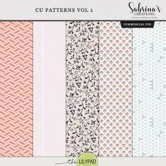 CU Patterns Vol 1 Journal Fonts, Journal Cards, Travelers Notebook, Printable Planner, Digital Scrapbooking, Overlays, Paper, Creative, Patterns