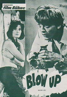 BLOW UP film ad 1967 with VANESSA REDGRAVE and DAVID HEMMINGS.